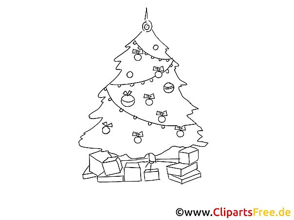 geschenk weihnachtsbaum gratis malvorlagen zum drucken