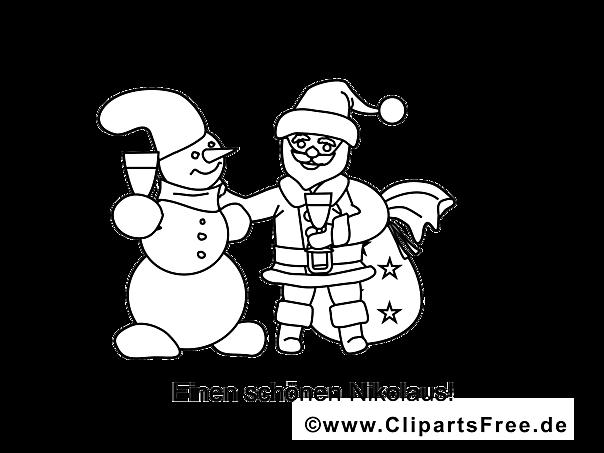 schneemann santa claus malvorlagen weihnachten und advent