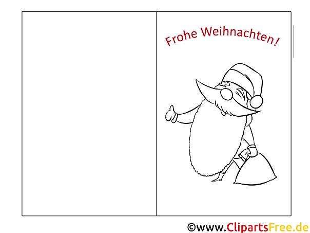 weihnachtsmann bärte kostenlose fensterbilder zu
