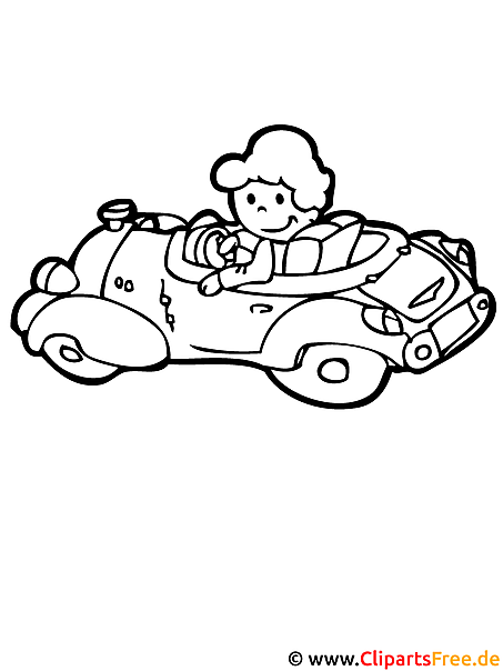 Automobil Malvorlage - Basteln mit Kindern