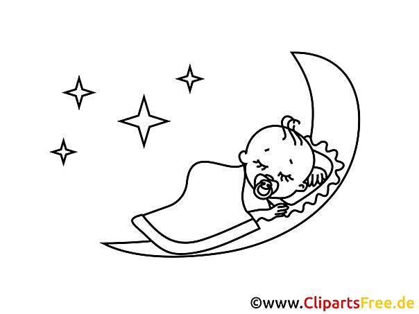 Gratis Malvorlage Gute Nacht