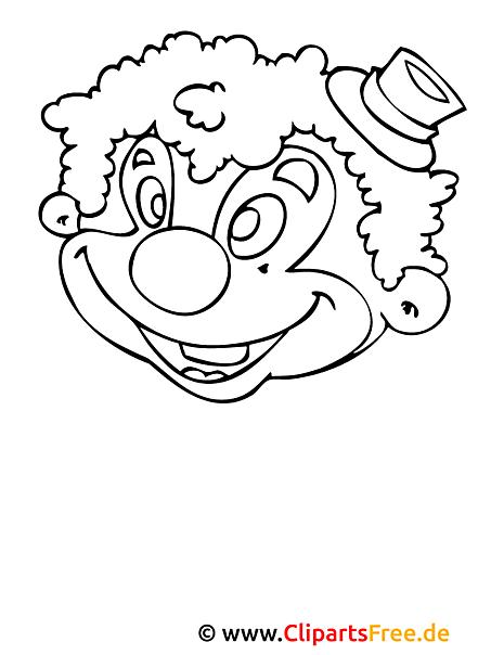 clown malvorlage  einfache malvorlagen kostenlos