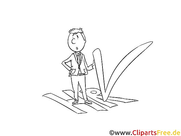 Personal, HR Illustration, Bild, Clipart schwarz-weiß Malvorlage
