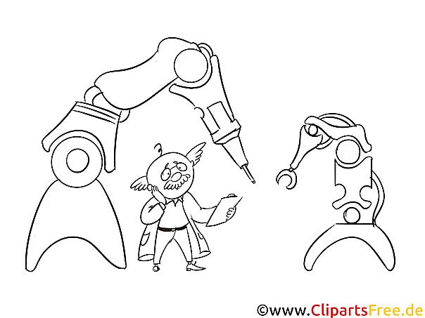 roboter in produktion bild illustration clipart schwarz
