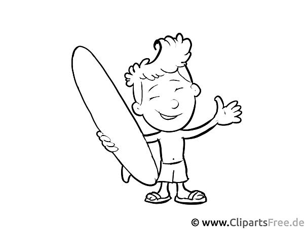 Surfer - Ausmalbilder Berufe zum Ausdrucken