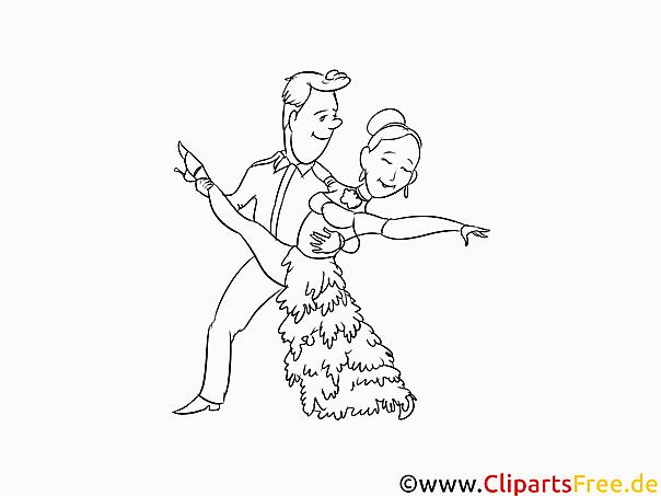 Tanzschule Malvorlage, Bild kostenlos