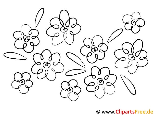 Bilder zum Malen mit Blumen