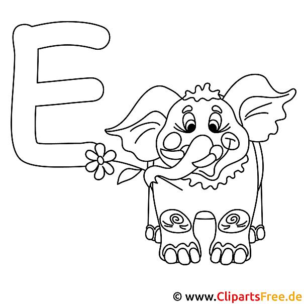 elephant  abc buchstaben zum ausmalen
