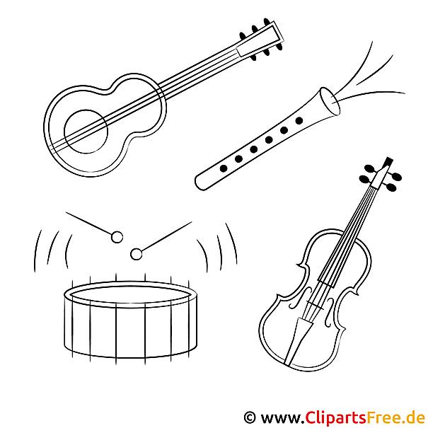 musikinstrumente malvorlagen
