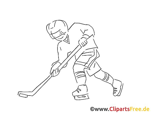 eishockey spielen malvorlage wintersport