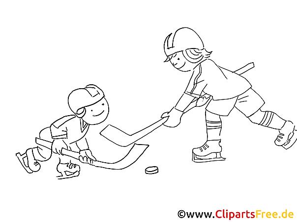 kinder spielen eishockey malvorlage wintersport