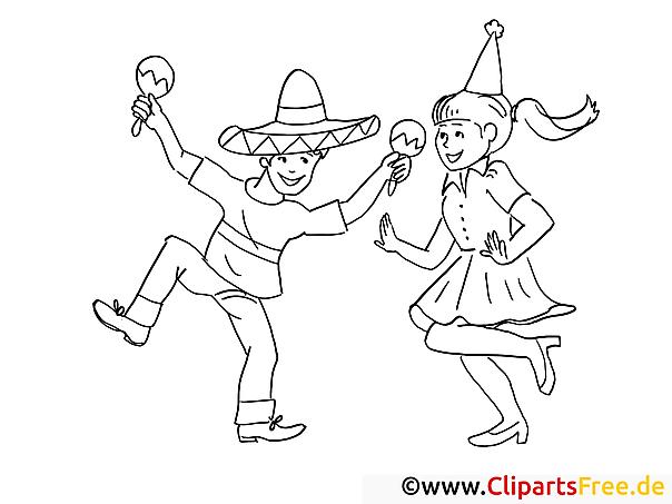 malvorlage fasching feiern
