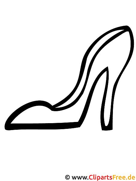 Schuh Malvorlage Fasching