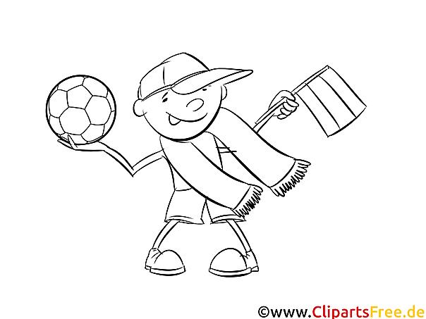 kostenlose malvorlage fussball