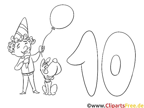 Geburtstag, Party, Feste Malvorlagen