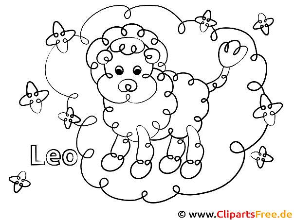 löwe sternzeichen ausmalbild für kinder kostenlos ausdrucken