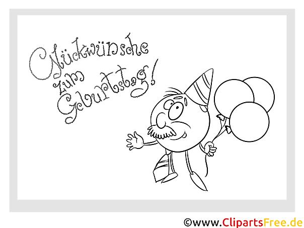 luftballons malvorlage zum kindergeburtstag