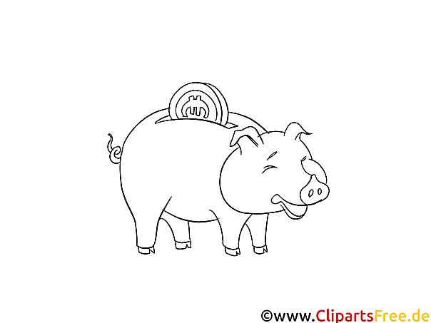 sparschwein bildmalvorlage zum drucken