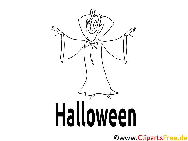 Ausmalbilder Halloween Geist gratis