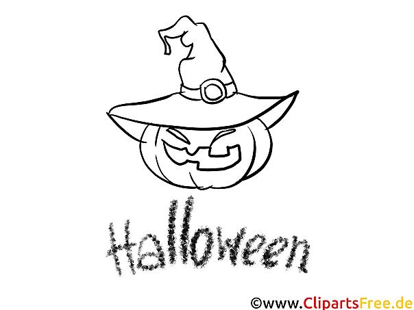 Gruselige Halloween Bilder zum Ausmalen