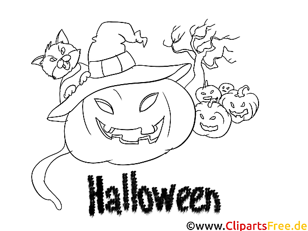 Halloween Bild zum Malen