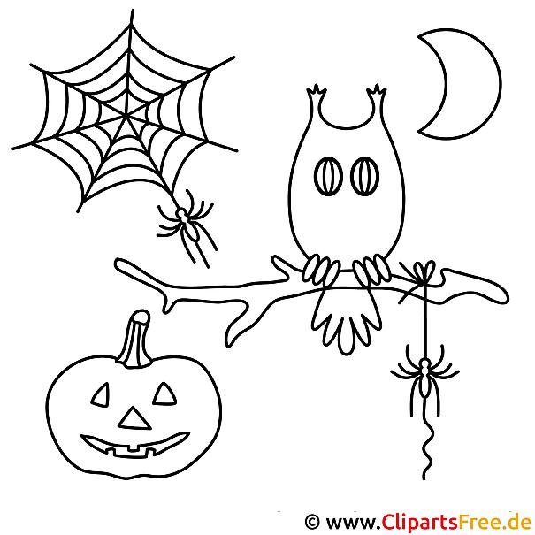 Halloween Malvorlage gratis herunterladen