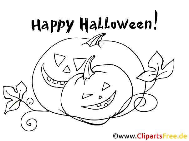 Kostenlose Malbilder zu Halloween