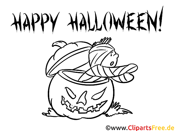Kürbis Bild zu Halloween