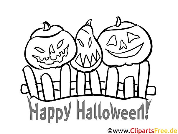 Lustige Bilder-Malvorlagen zu Halloween