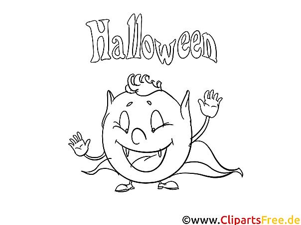Malvorlage von Halloween zum Ausdrucken