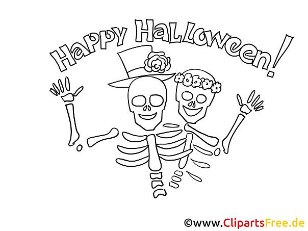 Skelette Malvorlagen zu Halloween