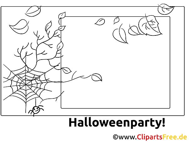 spinnennetz blätter ausmalbilder zu halloween