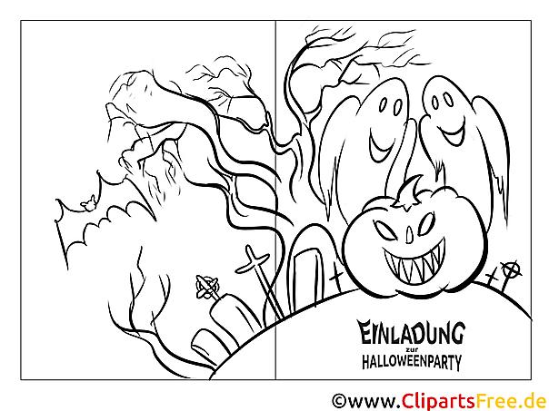 Vorlage für Einladungskarte Halloweenparty