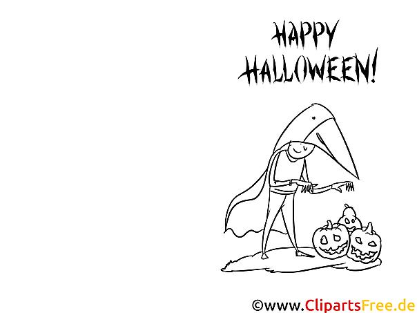 Vorlage zu Halloween zum Ausmalen