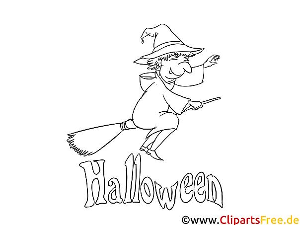 Zeichnungen Halloween von Hexen