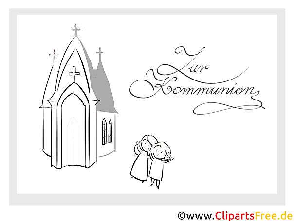 erstkommunion malvorlage kirche kinder