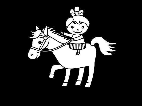 pony reiten malvorlage