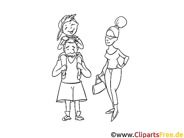 familie ausmalbild für kinder kostenlos ausdrucken