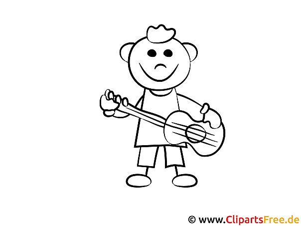 junge spielt gitarre malvorlagen und kostenlose ausmalbilder