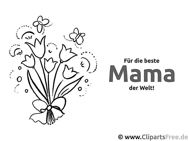 blumenstrauss für mama  glückwunschkarten zum muttertag