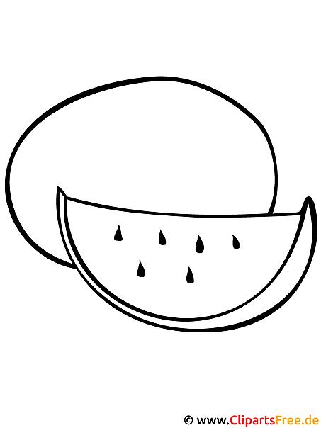 wassermelone malvorlage  malvorlagen obst und gemuese