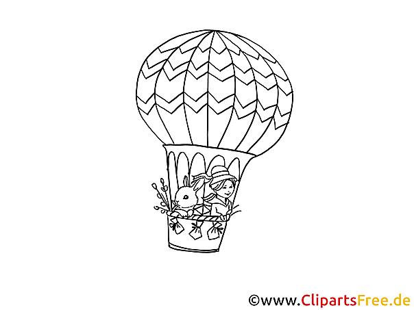 pdf ausmalbild luftballon