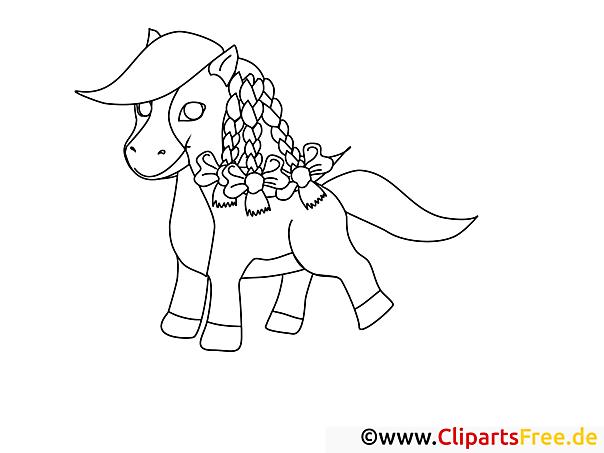 malvorlage von einem pony