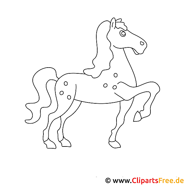 pferd cartoonbild malvorlage ausmalbild kostenlos