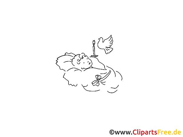 taufkind ausmalbild für kinder kostenlos ausdrucken