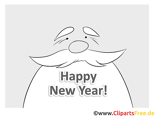 bärte großvater happy new year coloring malvorlage