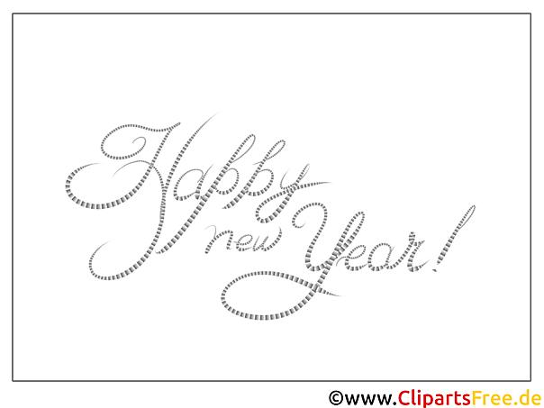 happy new year neujahr malvorlage gratis
