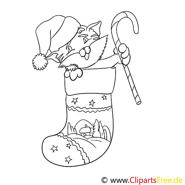 katze weihnachtssockeausmalbild malvorlage zum drucken