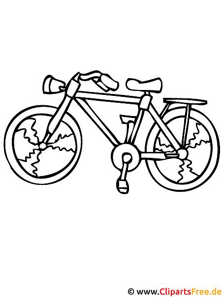 fahrrad malvorlage  kostenlose malvorlagen fuer kinder