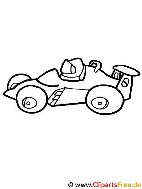 rennwagen formel 1 - ausmalvorlagen kostenlos